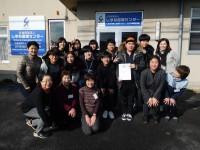日本語講師と記念写真