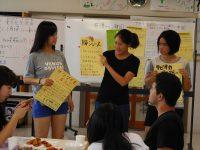 自分の国の料理を作り、日本語で説明しました。