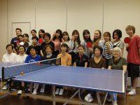 卓球教室の皆さんと