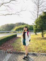 島根県立大学のこの辺りの景色が一番好きです。一年中緑が消えず、いつも生き生きしています!