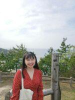 石見海浜公園に行きました。山の上から見渡す景色がとてもきれいです!