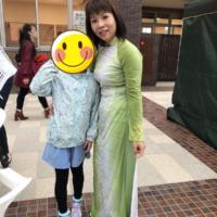 ベトナムの民族衣装、アオザイを着ました