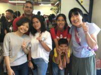 タイの学生と一緒に