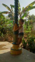 妹さんが2歳のとき、インドネシアにて